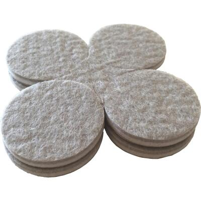 Shepherd 1-1/2 In. Beige Self-Adhesive Commercial Grade Felt Pads (8-Count)