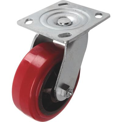 Shepherd 5 In. Polyurethane Medium-Heavy Duty Swivel Plate Caster