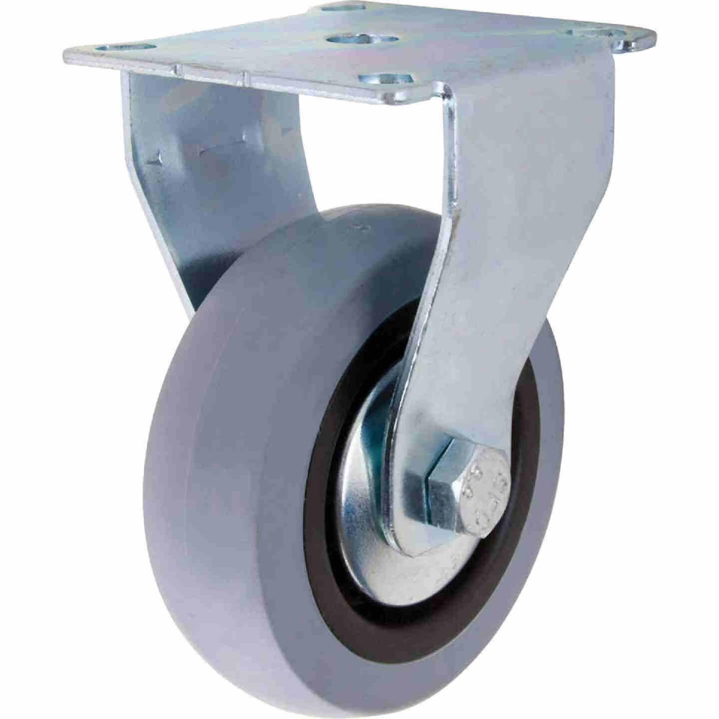 Shepherd 3 In. Thermoplastic Rigid Plate Caster Image 1