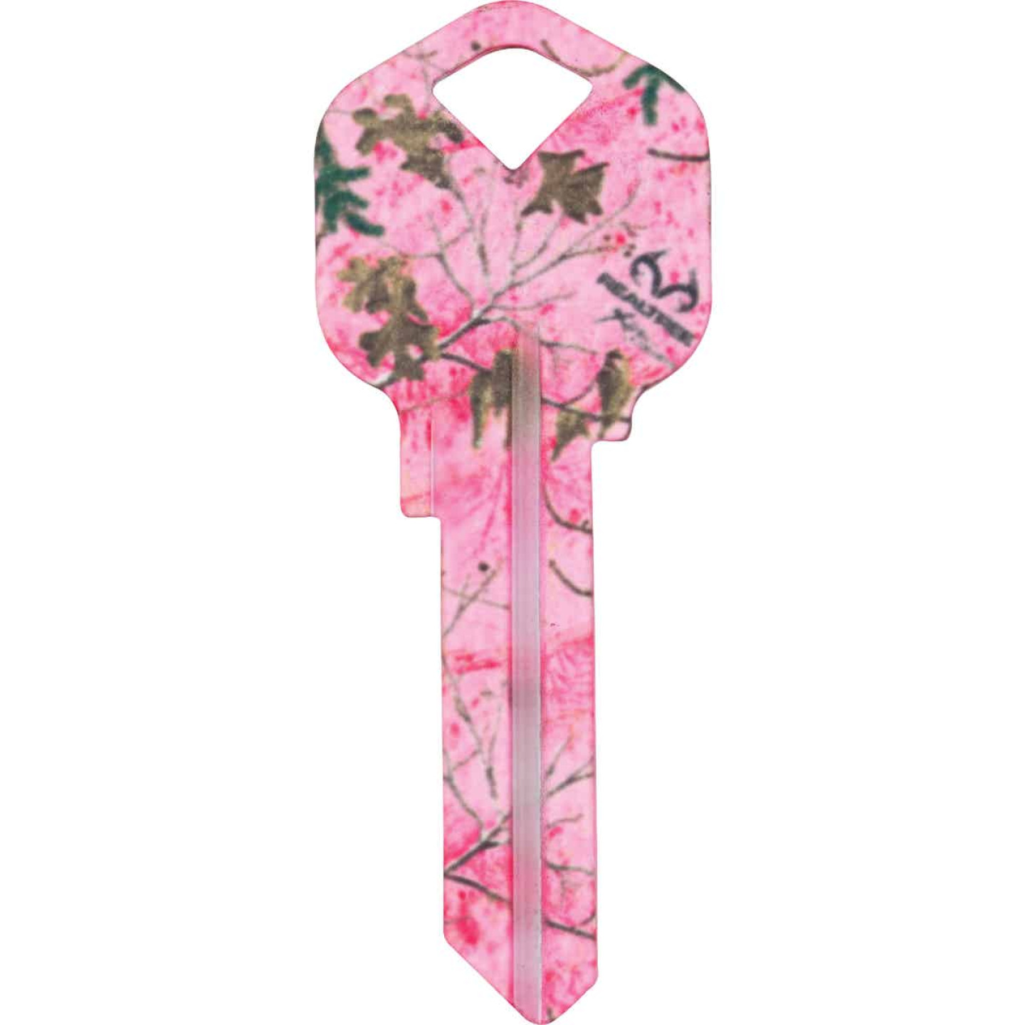 ILCO Kwikset Realtree Paradise Pink Camo Design Decorative Key, KW1  Image 1