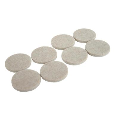 Magic Sliders 1-1/2 In. Round Oatmeal Self Adhesive Felt Pads (8-Pack)