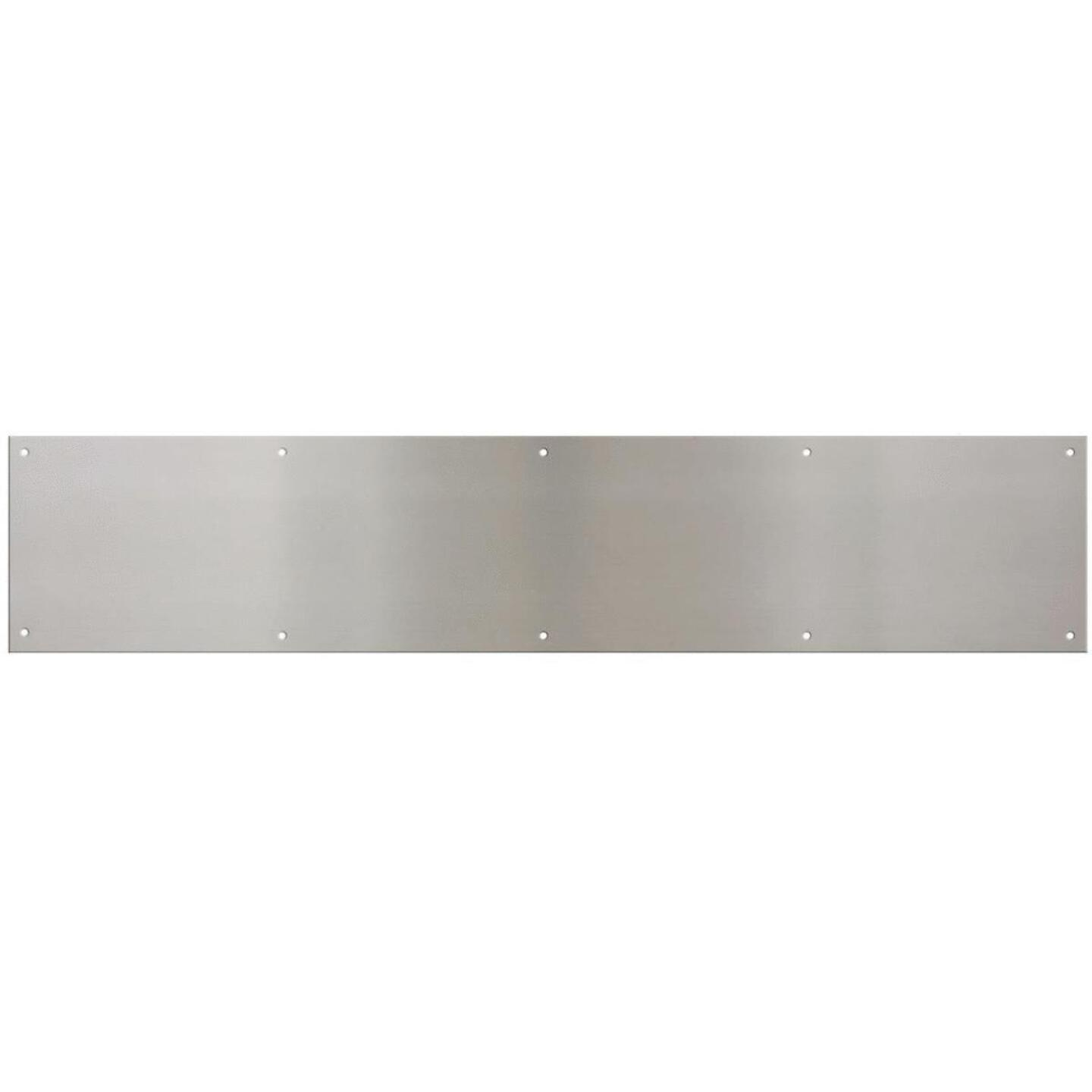 National 6 In. x 30 In. Satin Nickel Aluminum Kickplate Image 1