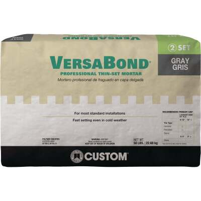 Custom Building Products VersaBond 50 Lb. Gray Fortified Thin-Set Mortar