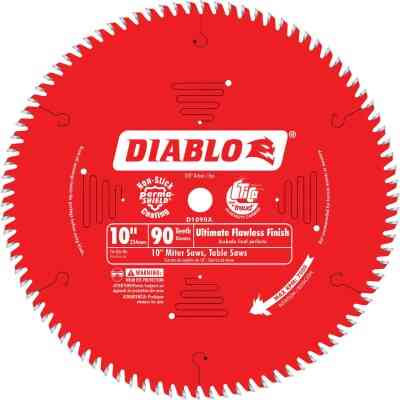 Diablo 10 In. 90-Tooth Flawless Finish Circular Saw Blade