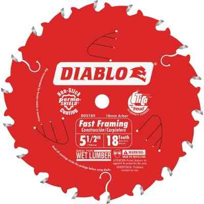 Diablo 5-1/2 In. 18-Tooth Fast Framing Circular Saw Blade with Bushings