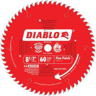 Diablo 8-1/2 In. 60-Tooth Fine Finish Circular Saw Blade