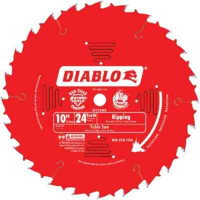 Diablo 10 In. 24-Tooth Ripping Circular Saw Blade