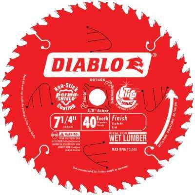 Diablo 7-1/4 In. 40-Tooth Finish Circular Saw Blade