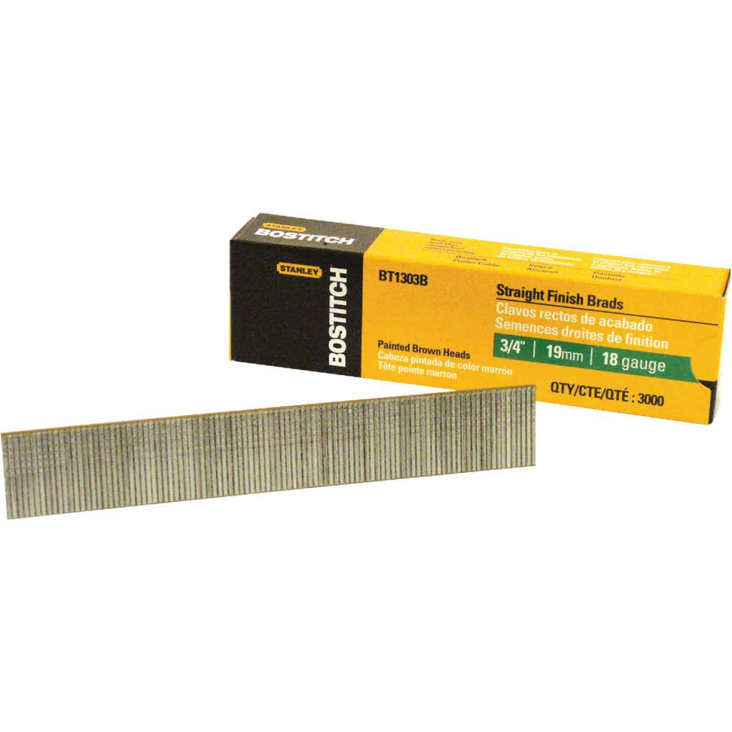 Bostitch 18-Gauge Coated Brad Nail, 3/4 In. (3000 Ct.) Image 1