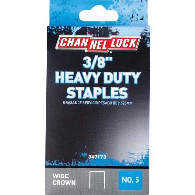 Channellock No. 5 Heavy-Duty Wide Crown Staple, 3/8 In. (1000-Pack)