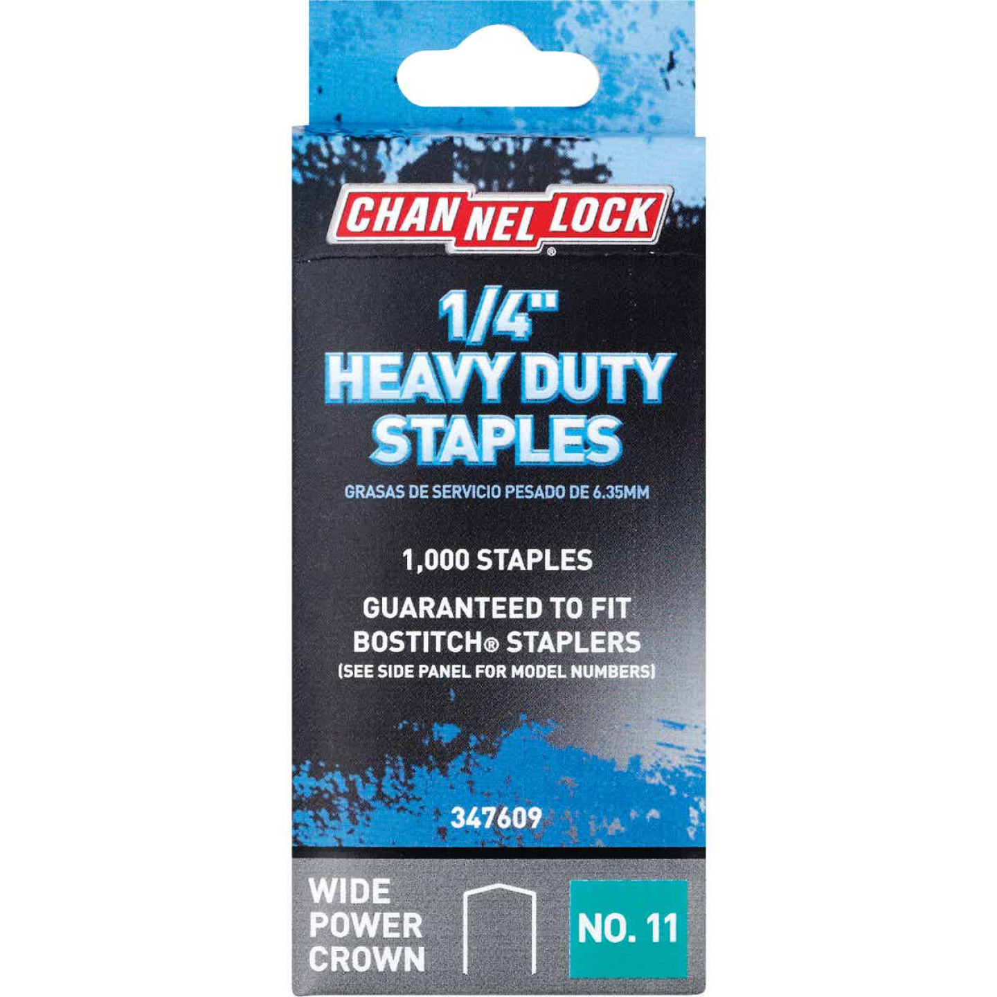 Channellock No. 11 Heavy-Duty Wide Power Crown Staple, 1/4 In. (1000-Pack) Image 1
