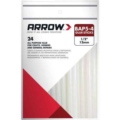 Arrow 4 In. Standard Clear Hot Melt Glue (24-Pack)