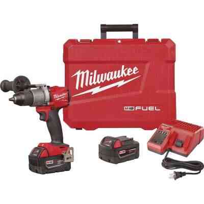 Milwaukee M18 FUEL 18 Volt XC Lithium-Ion Brushless 1/2 In. Cordless Drill Kit