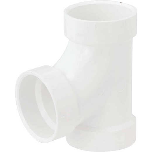 Charlotte Pipe 3 In. Schedule 40 Sanitary PVC Tee