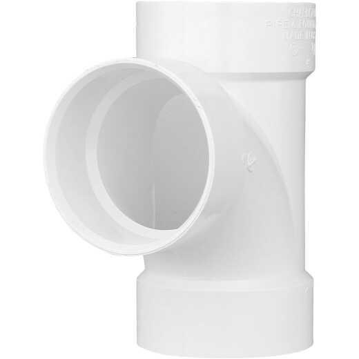 Charlotte Pipe 4 In. Schedule 40 Sanitary PVC Tee