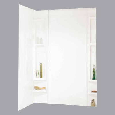 Maax Finesse 5-Piece 80 In. H x 34 In. D Tub Wall Kit in White
