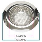 Do it Best 4-1/2 In. Stainless Steel Kitchen Sink Strainer Cup (2-Pack) Image 1