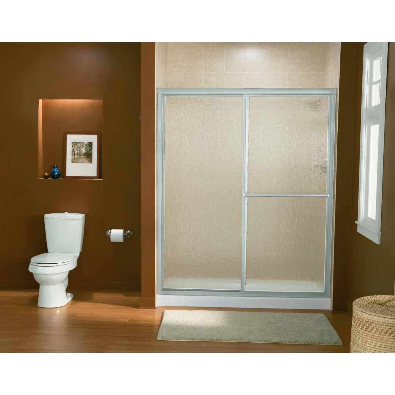 Sterling Deluxe 59-3/8 In. W. X 70 In H. Chrome Rain Glass Sliding Shower Door Image 2