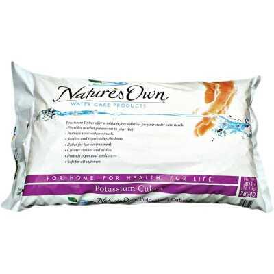 Nature's Own 40 Lb. Potassium Water Softener Salt Cubes
