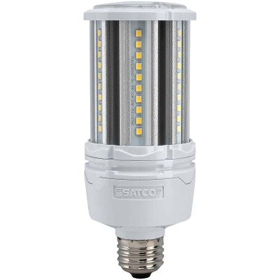 Satco Hi-Pro 22W Clear Corn Cob Medium Base LED High-Intensity Light Bulb
