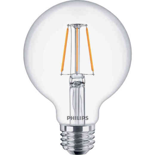 Philips 60W Equivalent Daylight G25 Medium Clear LED Decorative Light Bulb