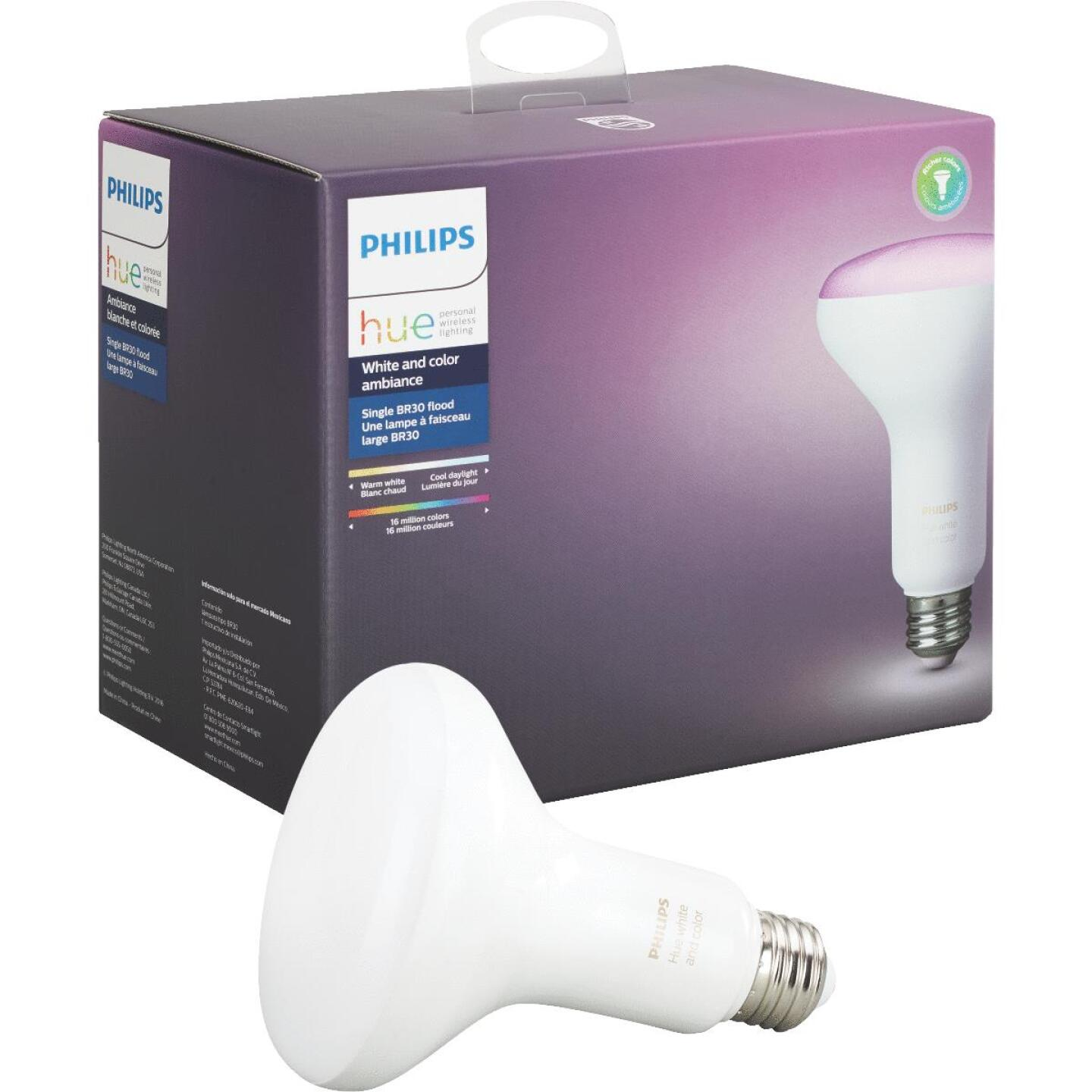 Philips Hue White & Color Ambiance 65W Equivalent BR30 Medium Base LED Floodlight Light Bulb Image 1