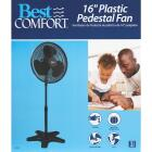 Best Comfort 16 In. 3-Speed 38 In. to 49 In. H. Black Oscillating Pedestal Fan Image 5