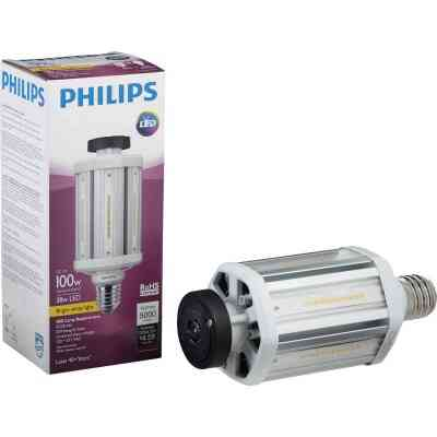 Philips TrueForce 38W Clear Corn Cob Mogul Base LED High-Intensity Light Bulb