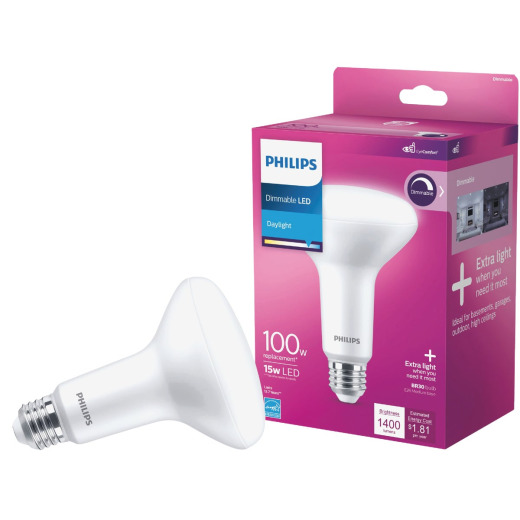 Philips 100W Equivalent Daylight BR30 Medium Dimmable LED Floodlight Light Bulb