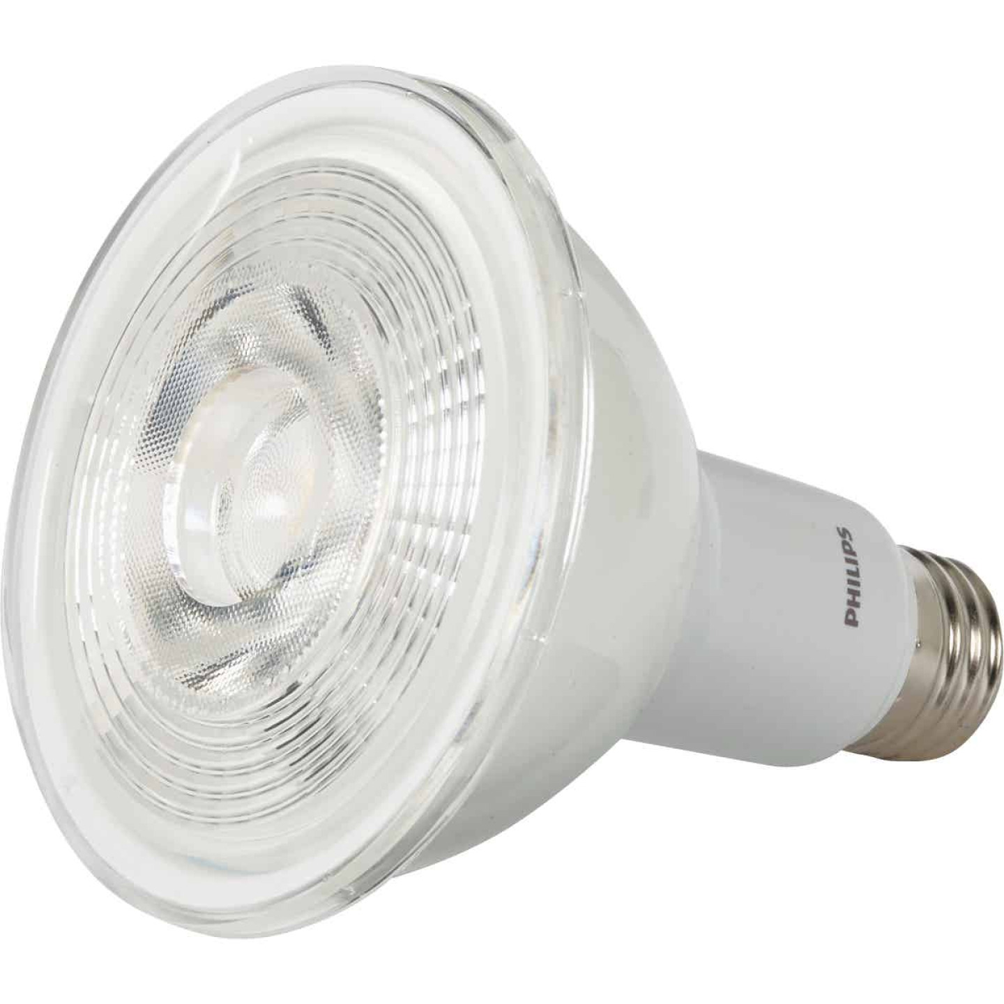 Philips 75W Equivalent Bright White PAR30 Long Neck Medium Dimmable LED Floodlight Light Bulb with Wide Beam Image 3