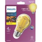 Philips Yellow A19 Medium 4W Indoor/Outdoor LED Decorative Party Light Bulb Image 1