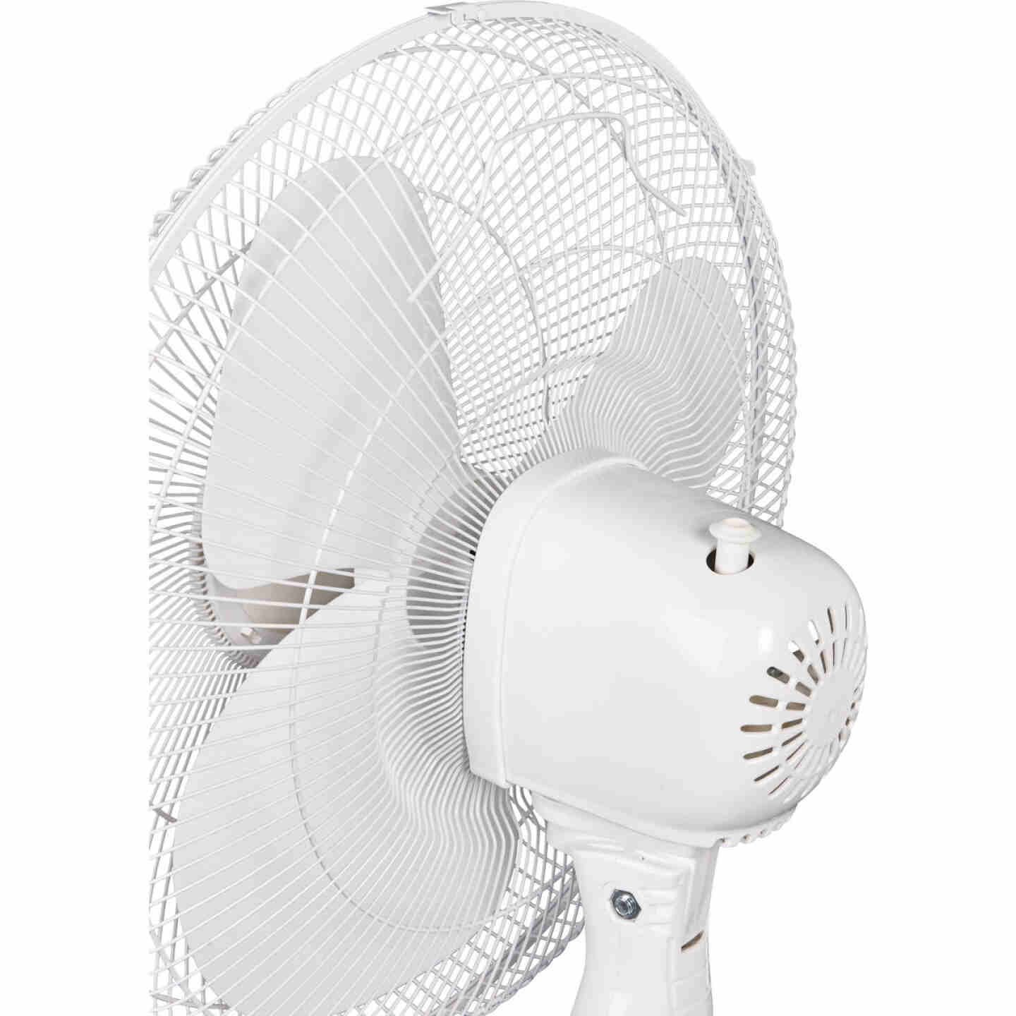 Best Comfort 16 In. 3-Speed Extends to 49 In. H. White Oscillating Pedestal Fan Image 5