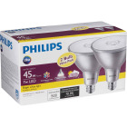 Philips 45W Equivalent Bright White PAR38 Medium Indoor/Outdoor LED Floodlight Light Bulb (2-Pack) Image 4