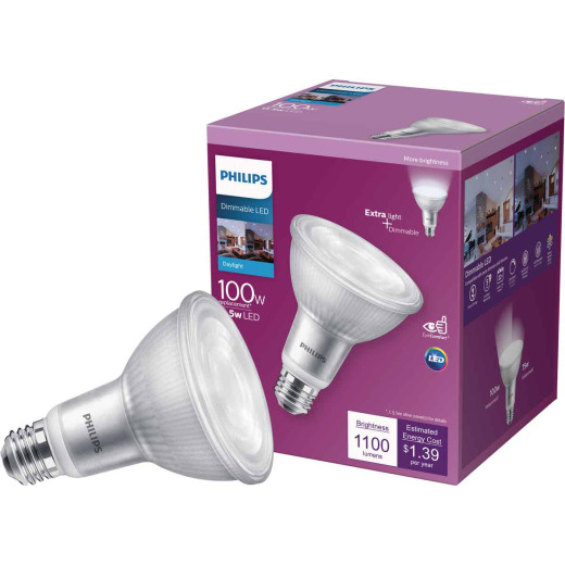 Philips 100W Equivalent Daylight PAR30L Medium Dimmable LED Floodlight Bulb