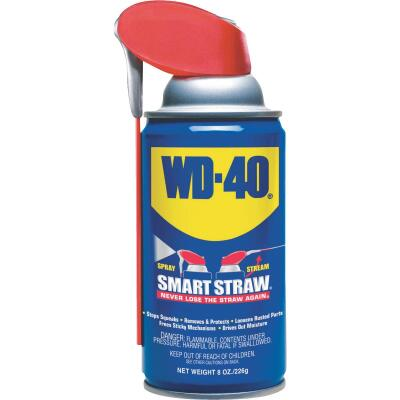 WD-40 8 Oz. Aerosol Multi-Purpose Lubricant with Smart Straw