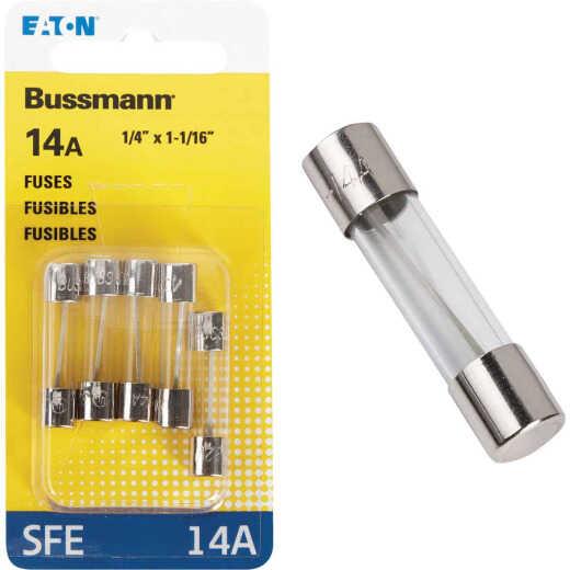 Bussmann 14-Amp 32-Volt SFE Glass Tube Automotive Fuse (5-Pack)