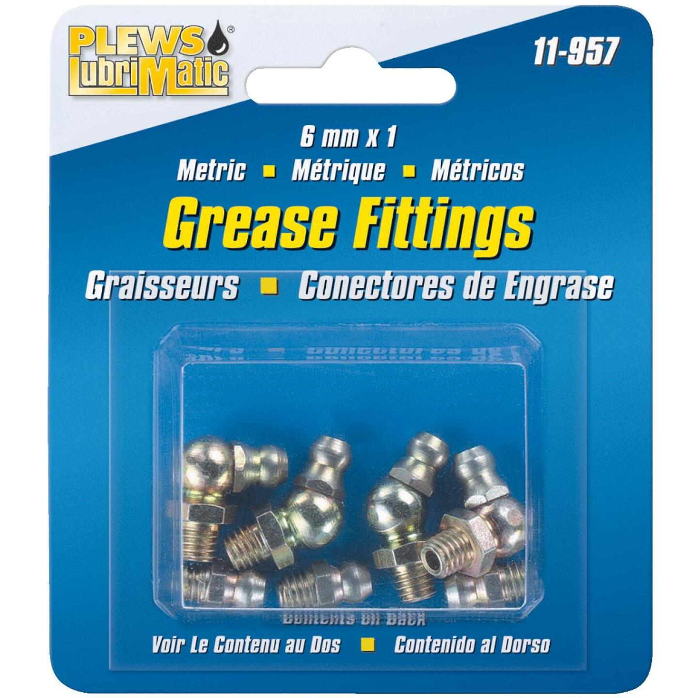 Plews Lubrimatic 6mm X 1 Grease Fitting Image 1