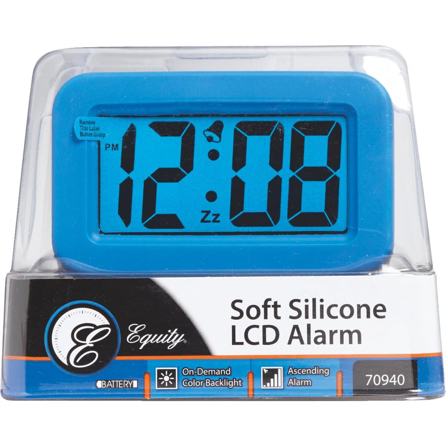 La Crosse Technology Silicon LCD Battery Operated Alarm Clock Image 2