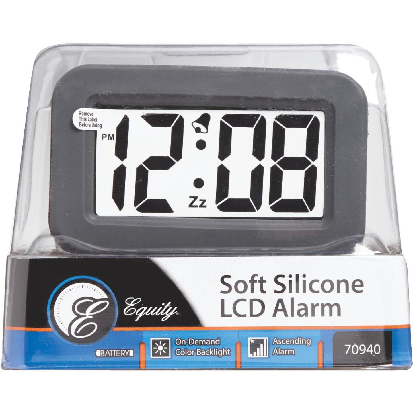 La Crosse Technology Silicon LCD Battery Operated Alarm Clock Image 3
