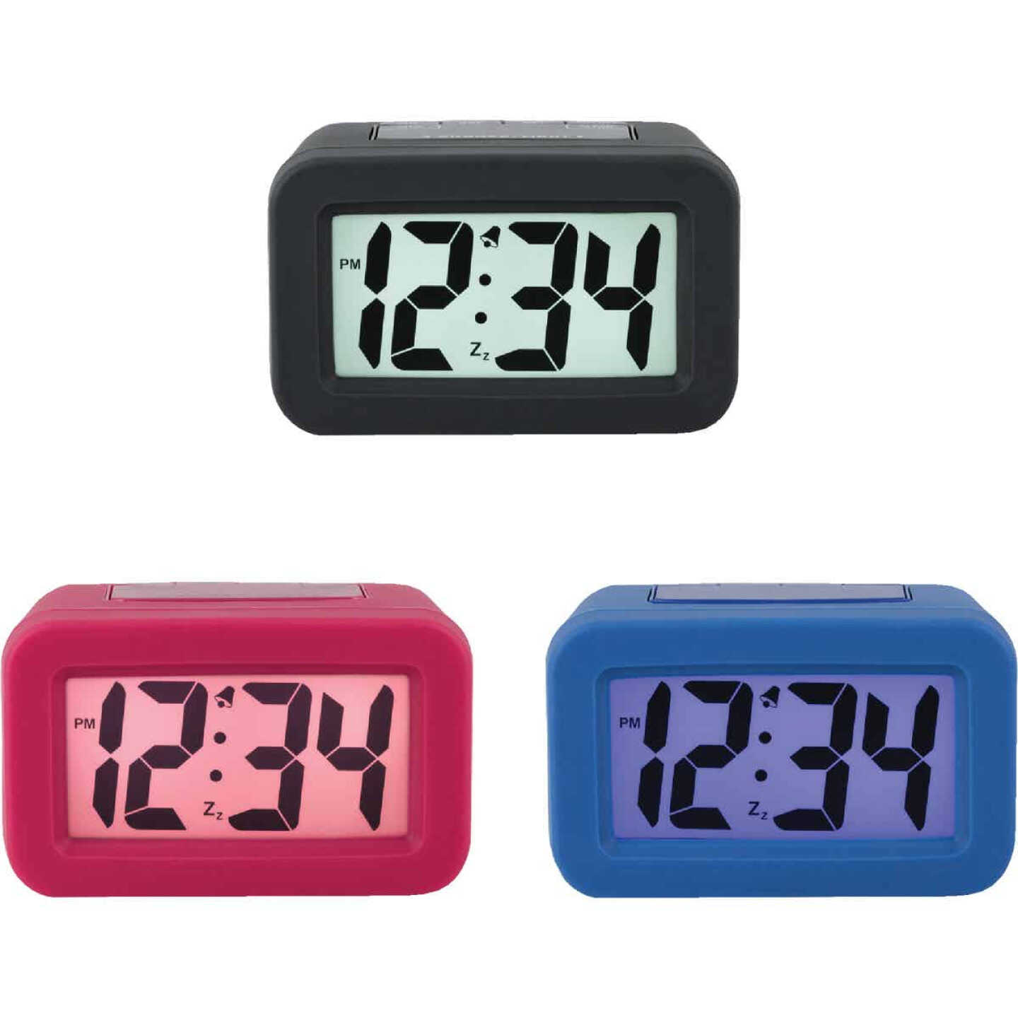 La Crosse Technology Silicon LCD Battery Operated Alarm Clock Image 1