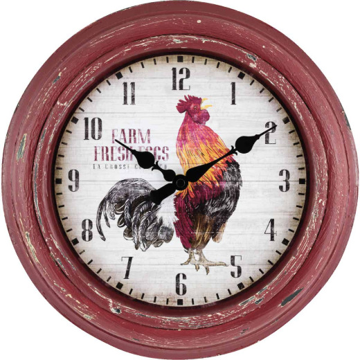 La Crosse Clock Rooster Wall Clock