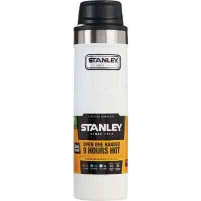 Stanley 20 Oz. Polar White Trigger Action Insulated Tumbler