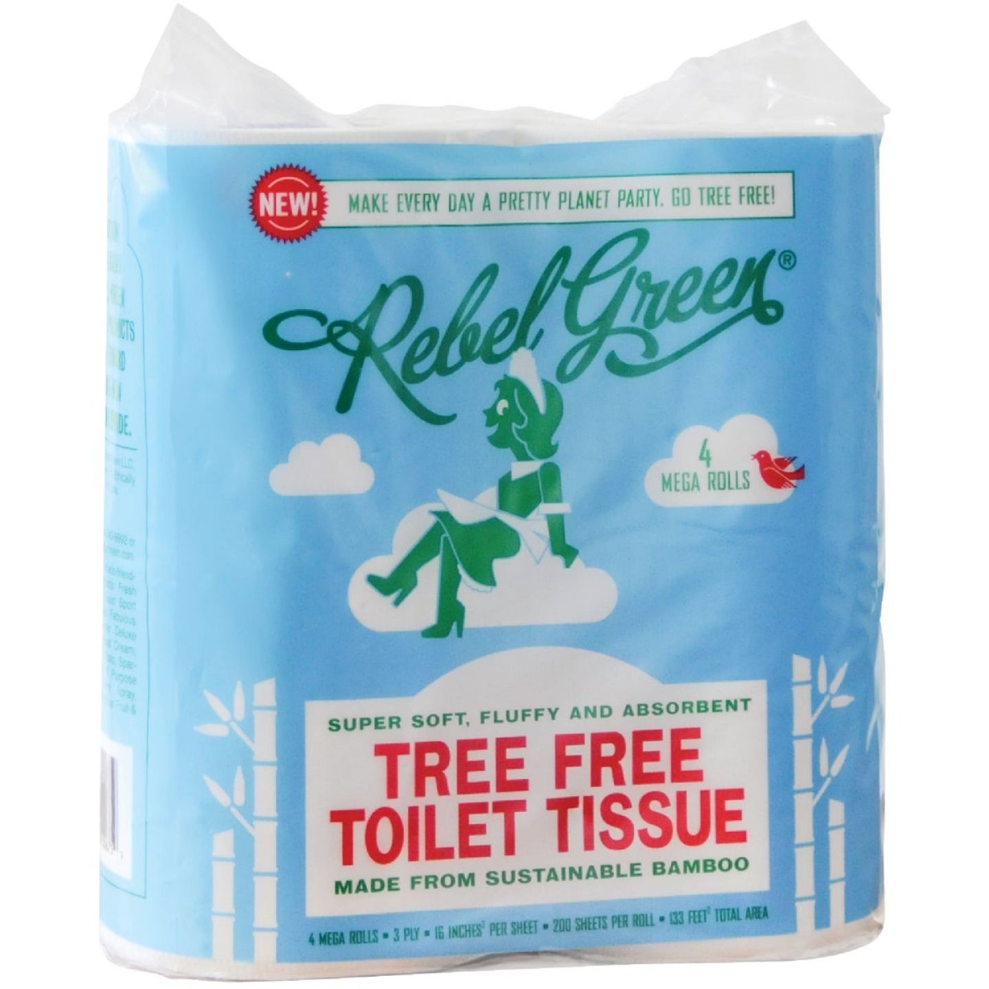 Rebel Green Tree Free Toilet Paper (4 Mega Rolls) Image 1