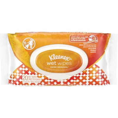 Kleenex Germ Removal Wet Wipes Flip-Top Pack (20 Count)