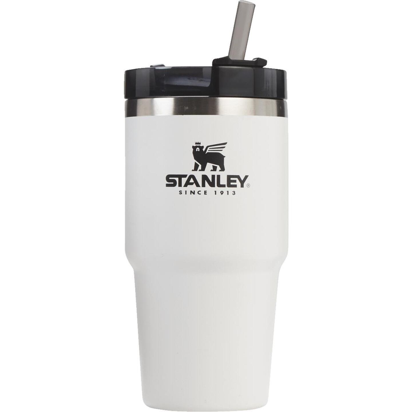 Stanley 20 Oz. Polar White Adventure Insulated Tumbler with Straw Image 1