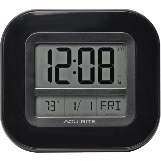 AcuRite Atomic Digital Wall Clock