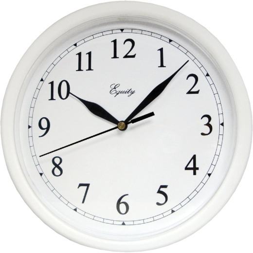 La Crosse Technology Equity White Quartz Wall Clock