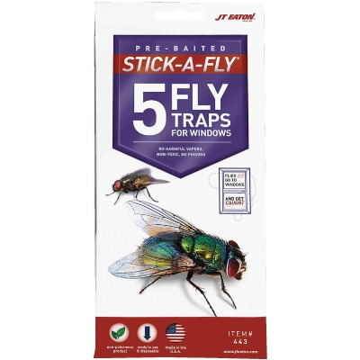JT Eaton Stick-A-Fly Disposable Indoor Fly Trap (5-Pack)