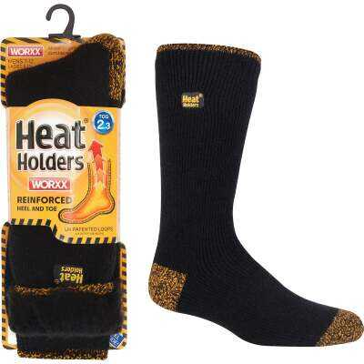 Heat Holders Worxx Large Black Thermal Socks
