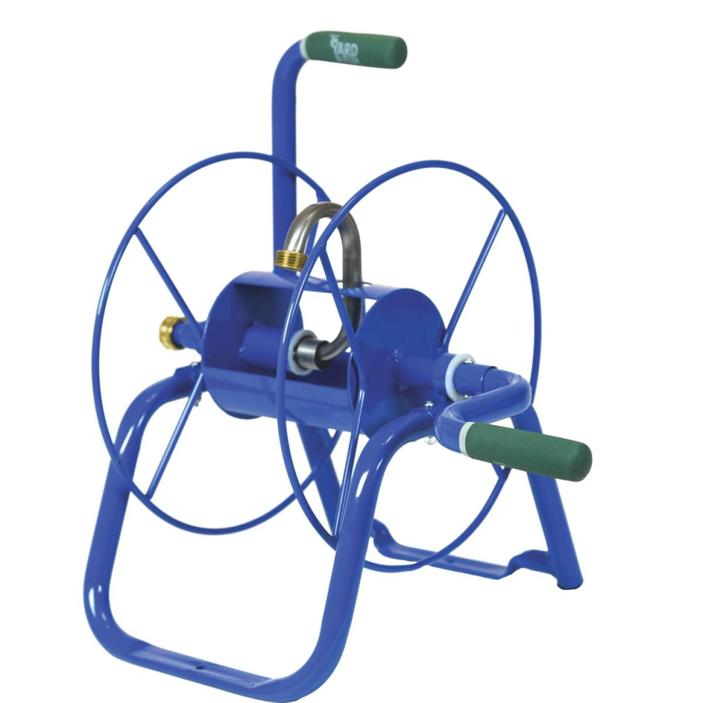 Yard Butler Handy Reel 75 Ft. x 5/8 In. Blue Steel Hose Reel Image 1